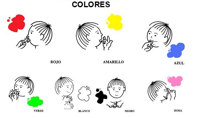 Aprende los colores en lengua de signos