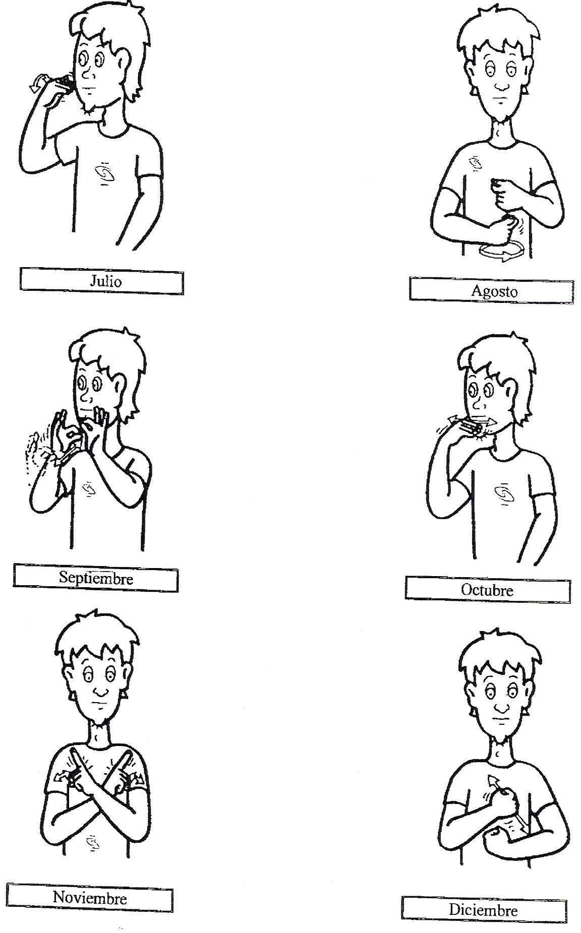 Aprende los meses del año en lengua de signos